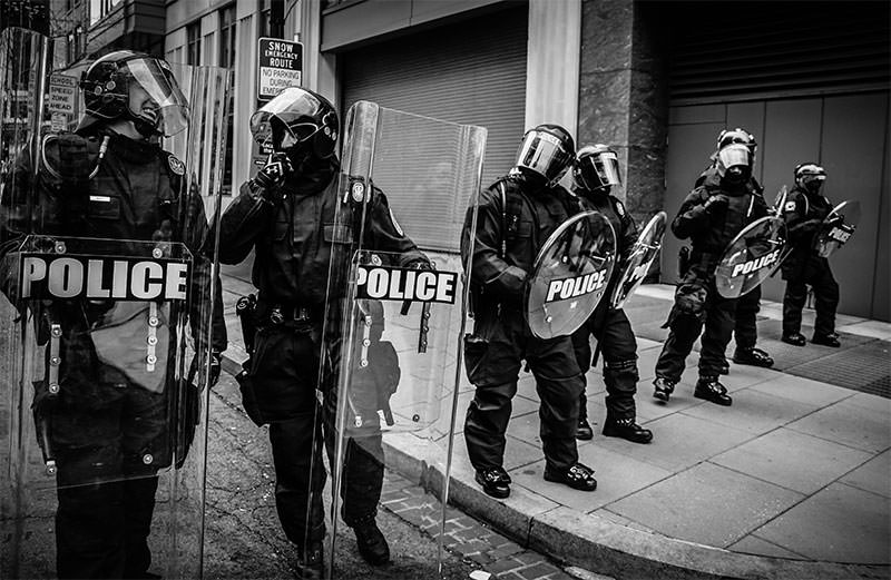 Excessive police force
