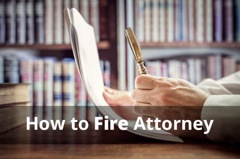 How to fire lawyer