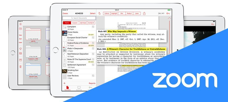 TrialPad and Zoom for Lawyers